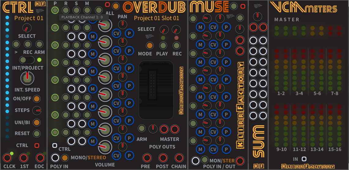 KlirrFactory OverDub - MultiTrack Recording for VCV Rack